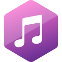 colored, hexagon, high quality, itunes, media, social, social media icon