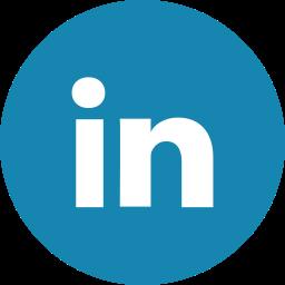 circle, linkedin icon