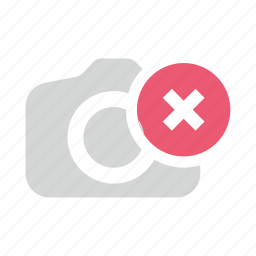 camera, delete, image, photo, remove icon