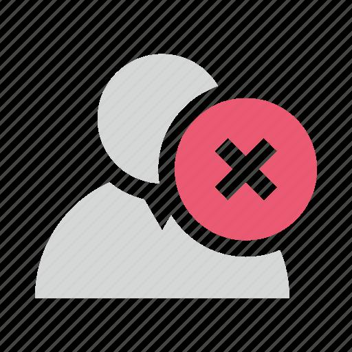 block, delete, remove, user icon