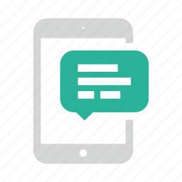 mail, message, tablet icon
