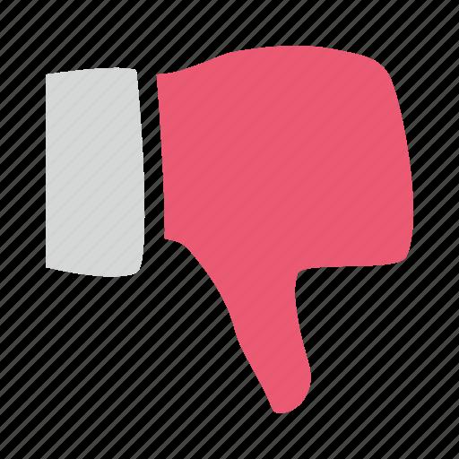 dislike, down, hand, hate, thumb, unlike icon