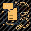 chatting, international, communication, smartphone