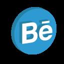 behance, media, portfolio, social icon