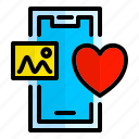 mobile, heart, like, love