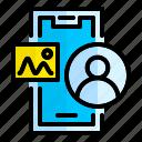 user, profile, account, mobile