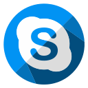 chat, communication, internet, media, skype, social, web icon
