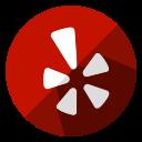 communication, internet, logo, media, network, social, yelp icon