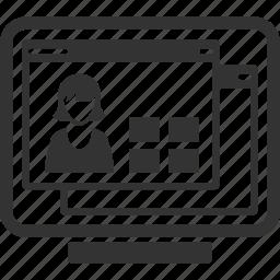 cv, online profile, resume icon