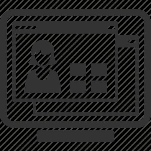 cv  online profile  resume icon