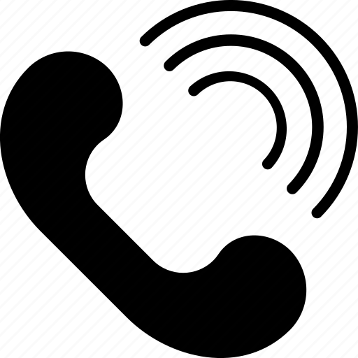 auricular, communication, interaction, media, phone, social, web icon
