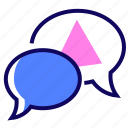 chat, information, online, speech bubbles icon