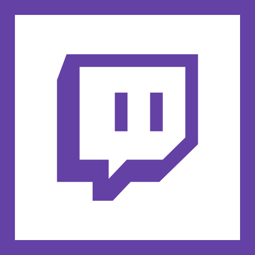 game, gamer, gaming, line, social media, square, twitch icon