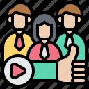 audience, customers, employee, group, satisfaction