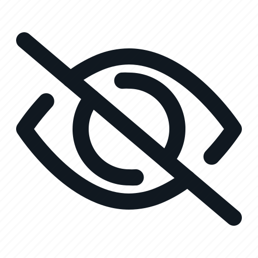 hidden, hide, media, social, tools, ui icon