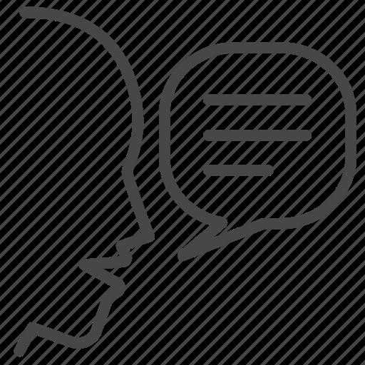 marketing, review, social, speak, talk, verbal, viral icon