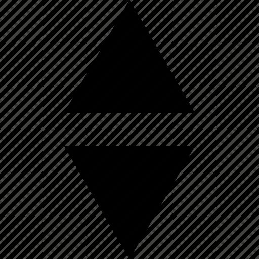 arrow, arrows, down, shape, triangle, triangles, up icon