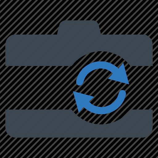 back, flip, front icon