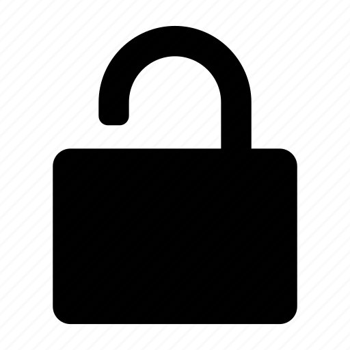 lock, secure, security, unlock icon