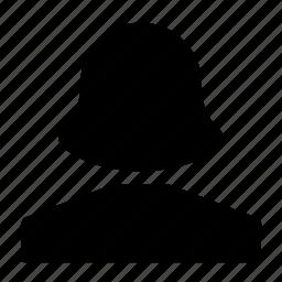 female, user icon