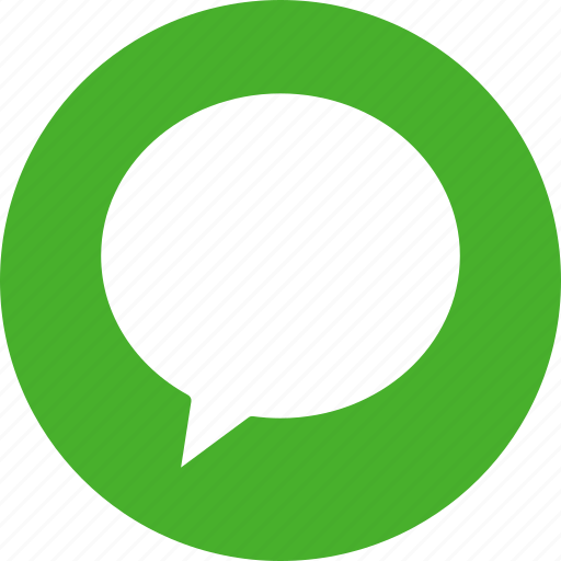 bubble, chat, chatting, circle, comment, communication, green icon