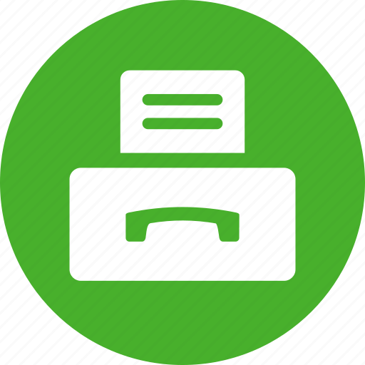 document, efax, fax, incoming, machine icon