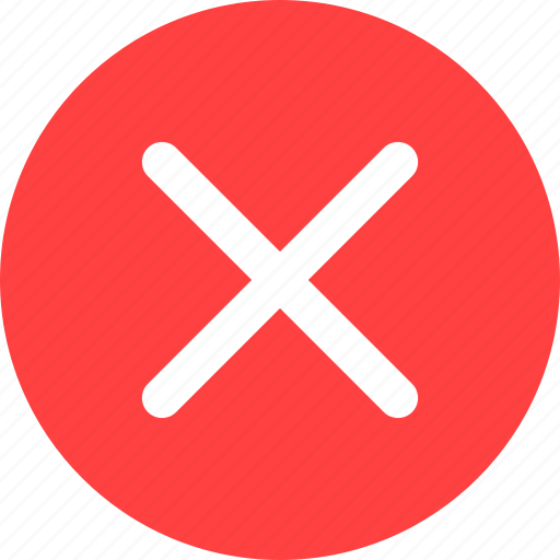 cancel, circle, close, delete, dismiss, red, remove icon