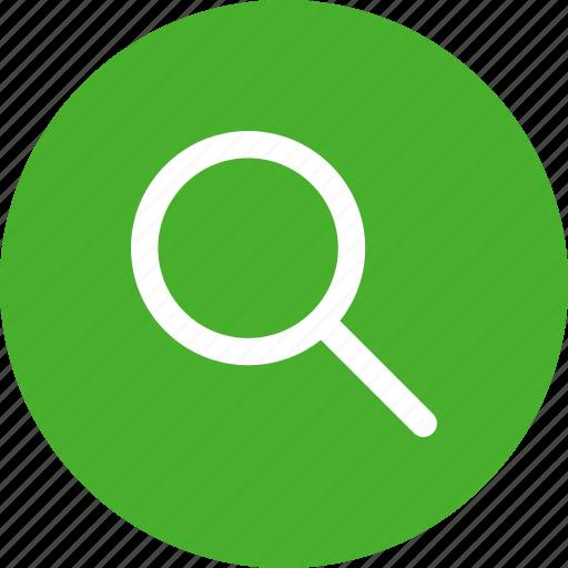 browse, circle, discover, explore, green, search icon
