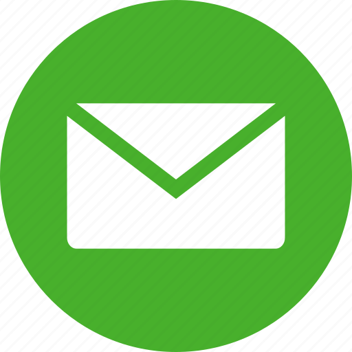 envelope, green, letter, mail, message, notice, office icon