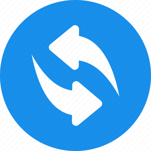 blue, circle, cycle, recycle, refresh, repeat icon