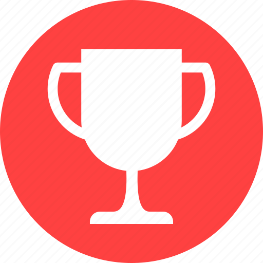 achievement, award, champion, circle, competition, red icon