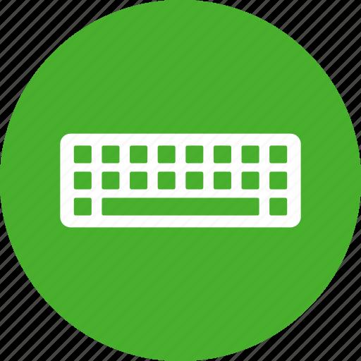 circle, computer, electronic, green, input, interface, keyboard icon