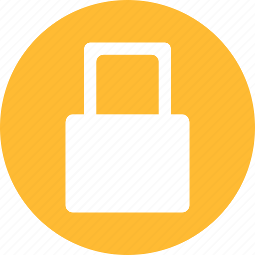 lock, locked, password, privacy, protected, yellow icon