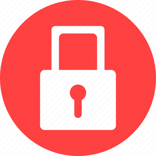 Lock, locked, password, privacy, protected, red icon - Download on Iconfinder