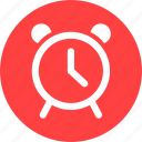 alarm, bell, clock, morning, ringing, time, wake icon