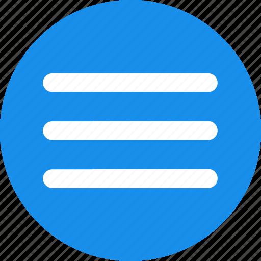 blue, hamburger, list, menu, options, stack icon