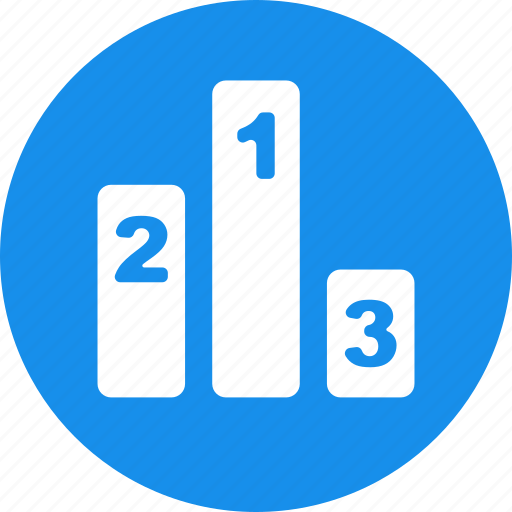 Blue, circle, competition results, hierarchy, leaderboard icon