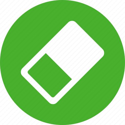 drawing, erase, eraser, green, remove, rub, rubber icon