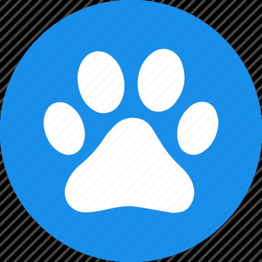 animal, dog, foot, paw, pet, pets, print icon