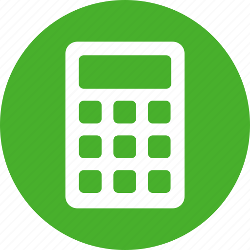 accountant, accounting, calculate, calculation, circle, green icon