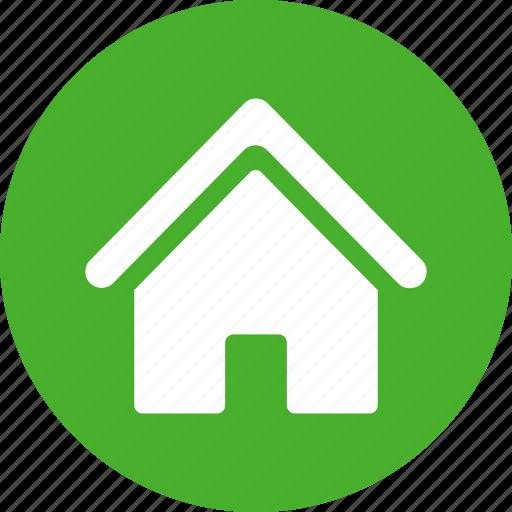address, apartment, casa, circle, green, home, homepage icon