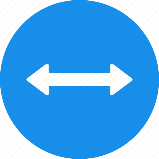 arrow, blue, direction, distance, left, move, right icon