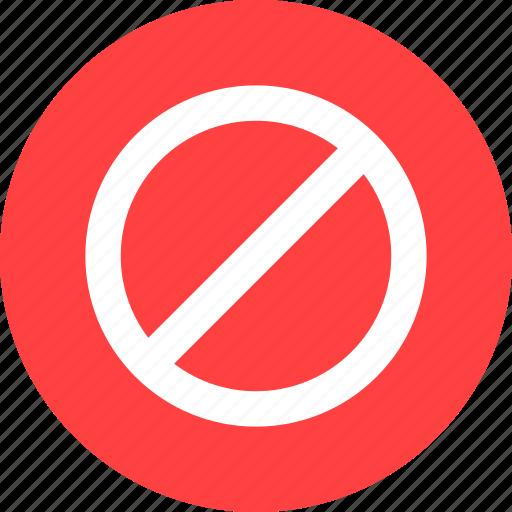 ban, block, blocked, cancel, prevent, private, red icon