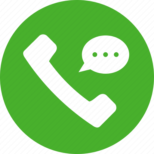 call, circle, communication, conversation, customer support, green icon