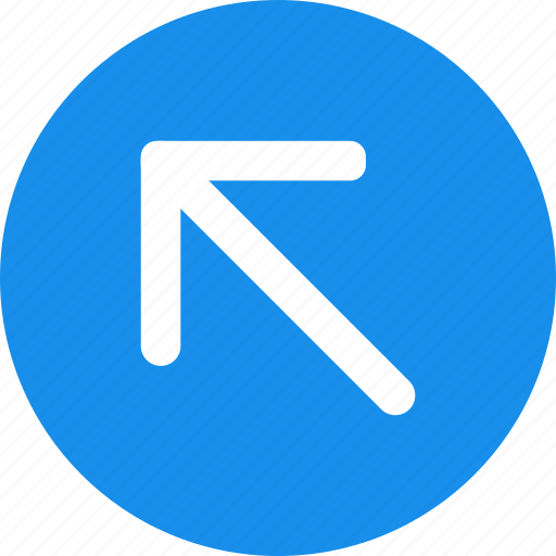 Arrow, blue, bold, circle, left, up icon - Download on Iconfinder