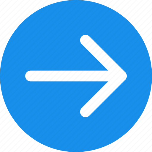 arrow, blue, circle, east, forward, next, right icon