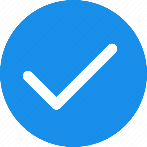 approved, blue, check, checkbox, confirm icon