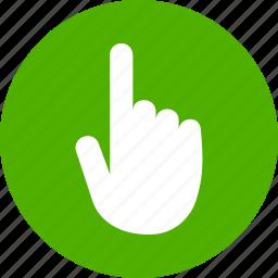 click, cursor, hand, screen, tap, touch, touchscreen icon
