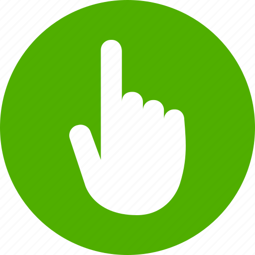 click, cursor, hand, screen, tap, touch, touchscreen icon