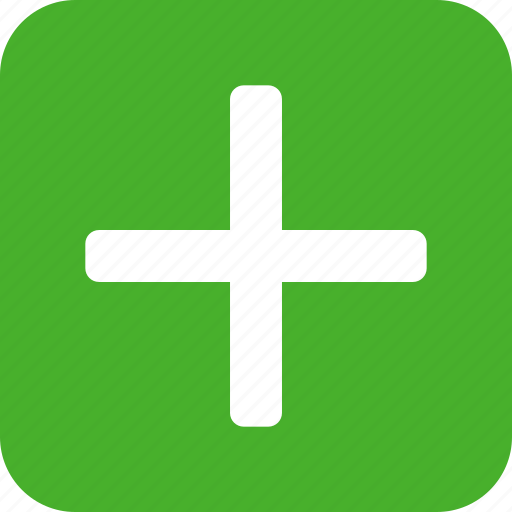 add, append, create, green, new, plus, square icon